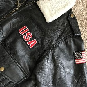 Vintage boys leather jacket